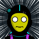 Dystopian Space Robot Avatar